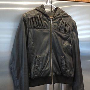 Manteau en cuir Danier avec capuchon